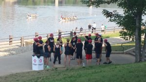 Dragon Boat Wheeling Team Prep